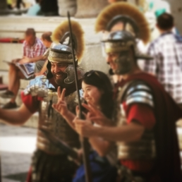Fotos con la guardia romana